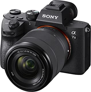 Sony a7 III (ILCE7M3K/BQ) Full-frame Mirrorless Interchangeable-Lens Camera with 28-70mm Lens with 3-Inch LCD, Black
