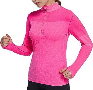slimour Women Running Shirts Long Sleeve Yoga Jacket Lightweight Half Zip Pullover Athletic