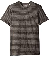 Short Sleeve All Over Jacquard Jasper Stripe T-Shirt