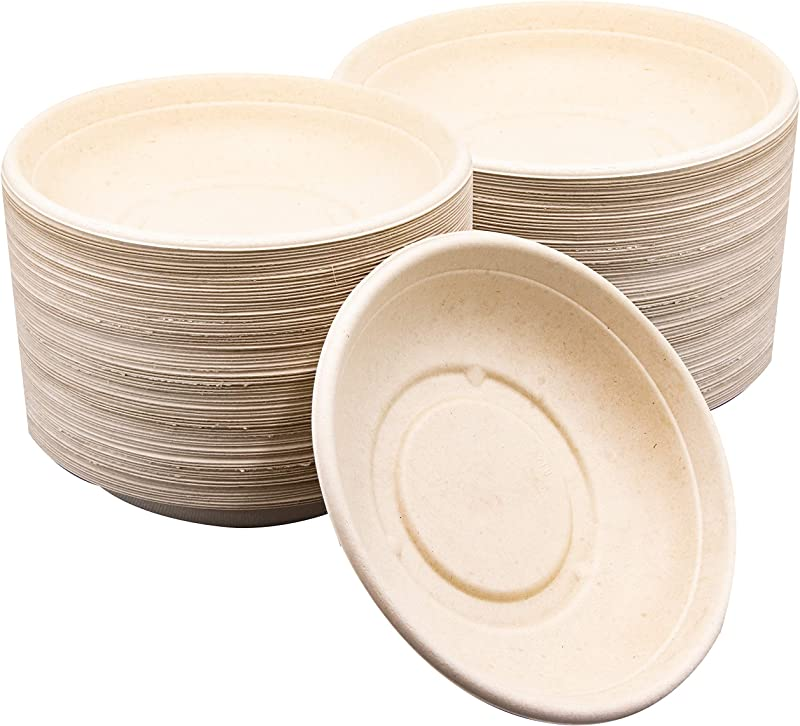 75 Pk Disposable 24 Oz Eco Friendly Bowls Biodegradable Compostable Paper Bowl Alternative