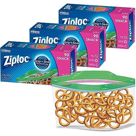 280 ct Ziploc Snack Bags