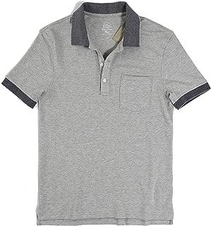 J.Crew Men's Tipped Pique Stretch Pocket Polo Shirt