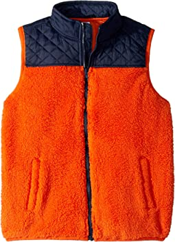 Color Blocked Sherpa Vest (Toddler/Little Kids/Big Kids)