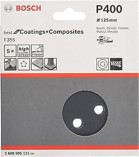 Bosch 2 608 605 121 - Hoja de lija, paquete de 5 uds. - 125 mm, 400 (pack de 5)
