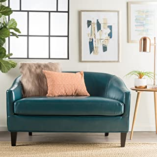 Christopher Knight Home Isolde Modern Petite Loveseat (Fabric (Teal Leather)