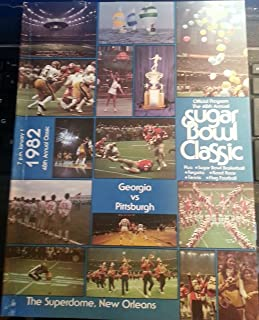 1982 Sugar Bowl Program Georgia Bulldogs vs Pitt Panthers-Dan Marino Final College Game