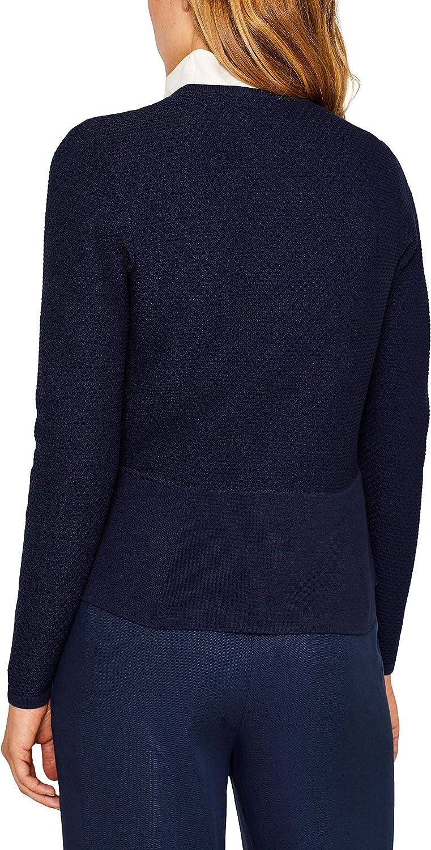 ESPRIT Collection Damen Strickjacke Blau (Navy 400)