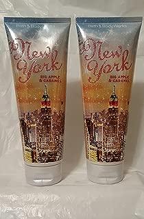 BATH AND BODY WORKS NEW YORK APPLE & CARAMEL ULTRA SHEA BODY CREAM DUO. 8 OZ
