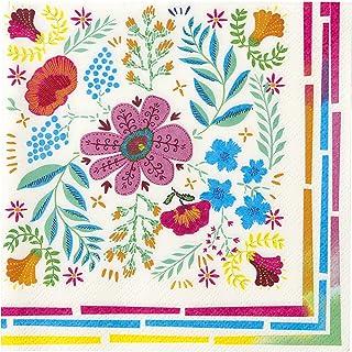 Talking Tables Lot de 20 Serviettes en Papier Motif Floral Bohème Décoration de Fête Elégante Festival Mariage Enterrement...