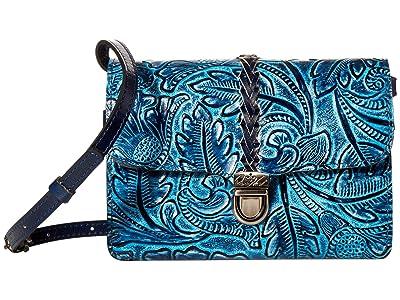 Patricia Nash Bellizzi Crossbody Organizer (Safflower Blue) Bags