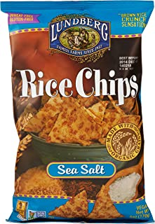 Lundberg Rice Chips, Sea Salt, 6 Oz