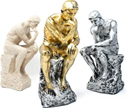 Good Buy Gifts The Thinker Statue - Resin Thinking Man Sculpture - Stone Silver Gold/Silver Colors - 10.5 Inch (Silver)