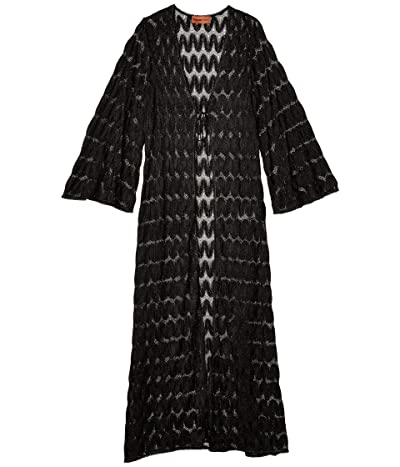 Missoni Mare Long Open Cover-Up (Black) Women