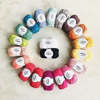 DROPS Design - Hilo de algodón egipcio peinado de 4 capas, 1 kg, 100 unidades, certificado Oeko Tex, 20 unidades, colores surtidos, ganchillo de punto amigurumi: Amazon.es: Hogar
