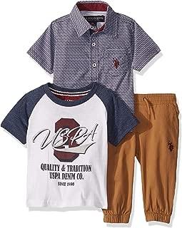 Baby Boy's Short Sleeve Printed Woven Shirt, T-Shirt, and...