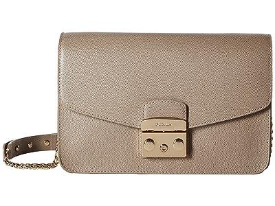 Furla Metropolis Small Shoulder Bag (Sabbia) Shoulder Handbags