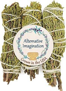 Alternative Imagination Juniper Incense Bundle. Package of 3, 4 Inch Bundles. Grown in The USA.