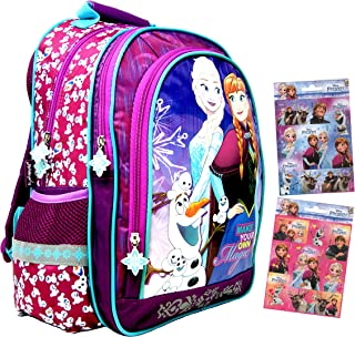 Disney - Mochila escolar (39 x 29 x 16 cm, apta para DIN A4), diseño de Anna y Elsa y Olaf