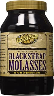 Golden Barrel Unsulfured Black Strap molasses, 32 Ounce