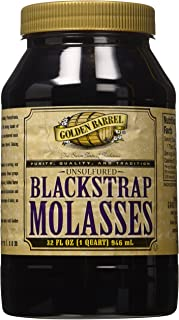 Golden Barrel Unsulfured Black Strap molasses, 32 oz