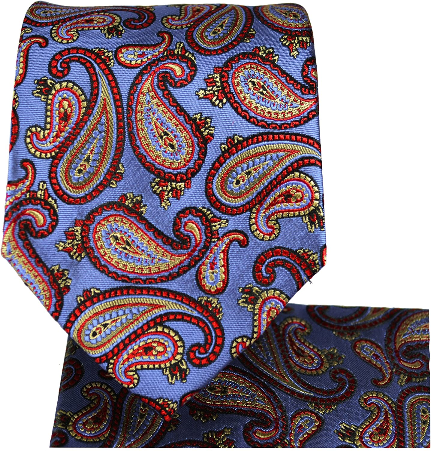 Paisley Mens Silk Tie a. Pocket Square by Paul Malone