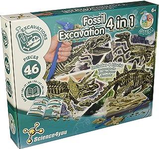 Science4you 399679 - Excavaciones Fósiles 4 en 1 Juguete Científico y Educativo