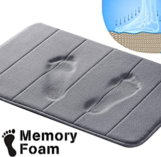 Memory Foam Bath Mat Soft Memory Foam Non Slip Bath Mat Toilet Floor Rug Non Slip Rubber Backing Non Slip Absorbent Super Cozy Velvet Bathroom Rug Carpet (17