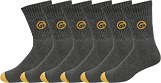 GLINTO Men's Premium Cushioned Cotton Athletic Crew Socks, (3 or 6 Packs,Free Size)