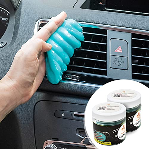 discount EcoNour Dust Cleaning Gel for new arrival Car Dashboards, AC Vents, and Cup Holders | Car Putty for Cleaning and Interior Maintenance | Eco-Friendly Multiuse Car online sale Slime for Cleaning | Blue (2 Pack) sale