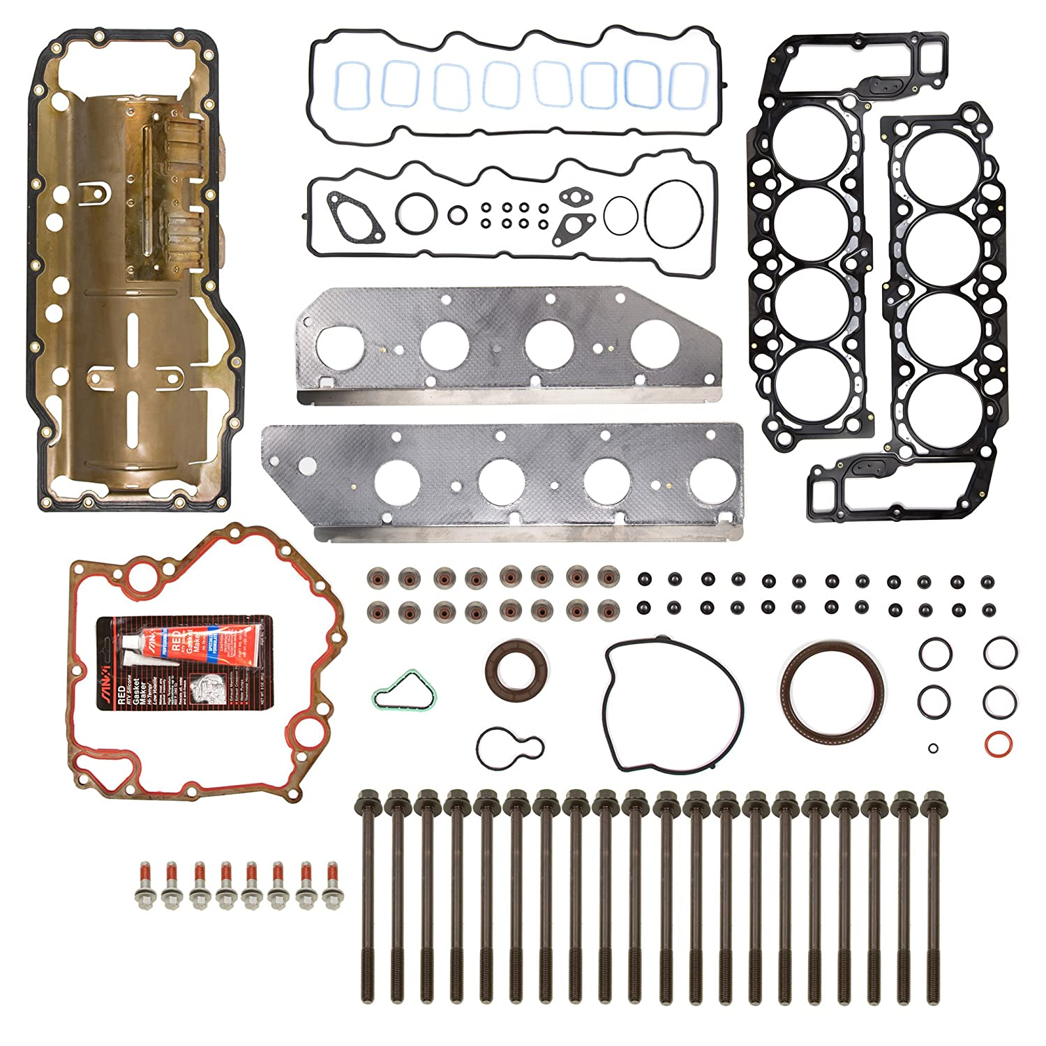 Evergreen FSHB8-30471L Full Gasket Set Head Bolt