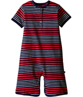 Toobydoo - Red/Navy Stripe Shortie Jumpsuit (Infant)
