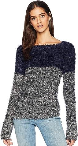 Two-Tone Eyelash Sweater