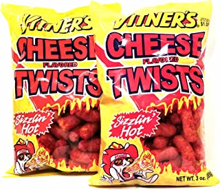 Vitner's Sizzlin' Hot Cheese Puffs 2 Pack 3oz Bags A Chicago Original