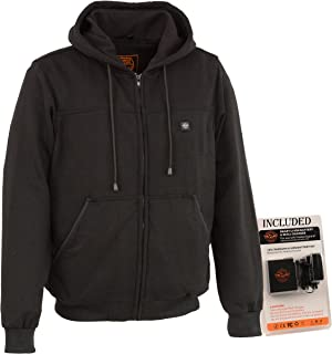 Milwaukee Performance-Men's Heated Hoodie w/Front&Back Heating Elements-BATTERY PACK INCLUDED-BLACK-8X-LARGE