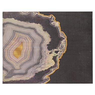 Amazon Brand – Rivet Purple Modern Agate Geode on Wood Wall Art, 16  x 20