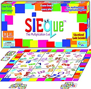 SiEque™ Cool Math Games for Kids & Adults - Best Party Games - Award Wining Multiplication Fun Board Game – Top Educational Learning Toys to Play for Boys & Girls & Family –Prime Gift -Ages 7-77