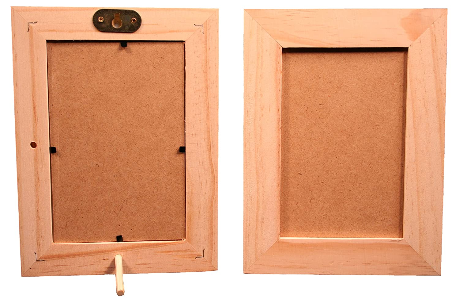 Pack of 6 - Unfinished Wood Picture Frames for Arts & Crafts - Stand or Hang on The Wall - Hold a 4x6 Inch Photo