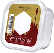The Army Painter Battlefield Essential Series: Battlefield Snow for Miniature Bases and Wargame Terrains - Snow Flock for Bases of Miniature Toys, 150 ml