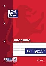 Oxford 100430210 - Recambio de rayas para carpeta A4, 100