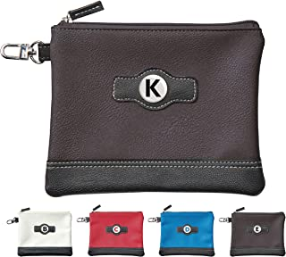 Classic Zipper Golf Pouch - A to Z Personalized Alphabet Letter Logos