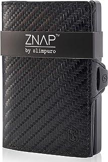 ZNAP Cartera Hombre RFID Metálico con Compartimento para Monedas – Tarjetero Hombre de Aluminio – Billetera Hombre pequeña...