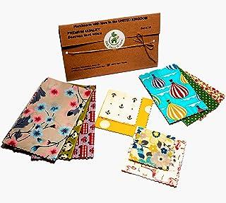 Envolturas de cera de abejas, juego de 10, colores aleatorios, BEE Zero Waste, UK HANDMADE, alternativa natural a la pelíc...