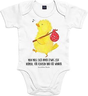 Mr. & Mrs. Panda Mr. & Mrs. Panda Strampler, Baby, 3-6 Monate Baby Body Küken Wanderer mit Spruch - Farbe Transparent