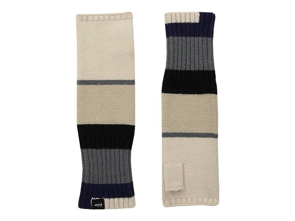 Echo Design Active Stretch Color Block Fingerless Gloves (Echo Black) Wool Gloves