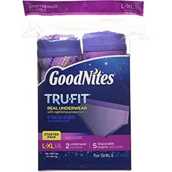 Goodnites Durable Underwear Starter Kit Large/X-Large Girl, 7-Count