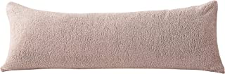 """Reafort Ultra Soft Sherpa Body Pillow Cover/Case with Zipper Closure 21""""x54"""" (Taupe, 21""""X54"""" Pillow Cover)"""