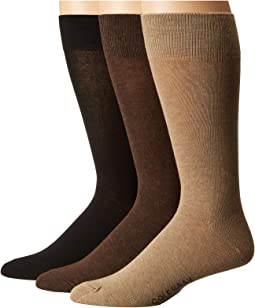 Cole Haan - 3-Pair Solid Flat Knit Crew