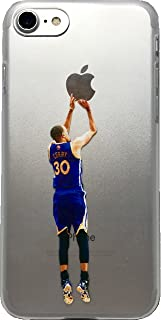 Soft TPU Basketball Case with Your Favorite Past and Present Players (Curry Back Jumper, iPhone 7 and 8)