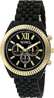 XOXO metal y reloj automático de aleación de cuarzo de la mujer, color: negro (Modelo: xo249)