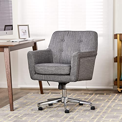 Cheap Office Chairs Amazon Gaming Chair Serta Style Ashland Home Office Chair Twill Fabric Gray Amazoncom Upholstered Office Chair Amazoncom